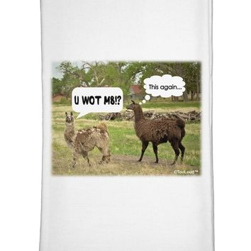 Angry Standing Llamas Flour Sack Dish Towel by TooLoud