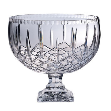 "Majestic Gifts PL-105 Hand Cut Crystal Punch Bowl, 12""D, 270 oz."