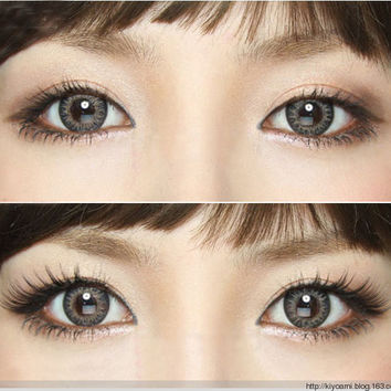 GEO Tri Color World Gray circle lens - color contacts | EyeCandy's