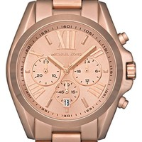 Women's Michael Kors 'Bradshaw' Chronograph Bracelet Watch, 43mm - Rose Gold