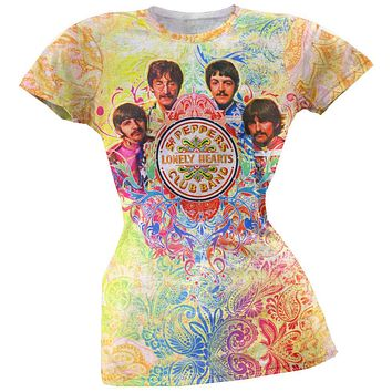 Beatles - Paisley All Over Juniors T-Shirt