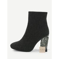 Black Static Ankle Booties