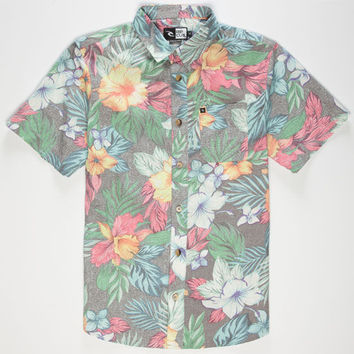Rip Curl Roscoe Floral Boys Shirt Black  In Sizes