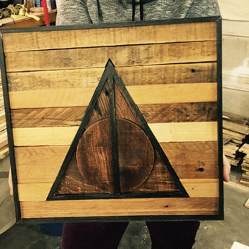 Deathly Hallows Wood Art