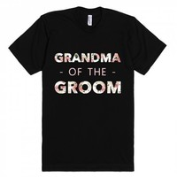 Floral Grandma of the Groom (Wedding Party Group Shirts)