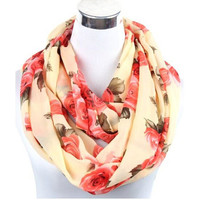 Free Ship ladies' lover flower rose chiffon scarf chevron Infinity Scarves women shawl Beach towel female long summer scarf