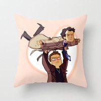 LET ME BE YOUR WINGS Throw Pillow by Blue