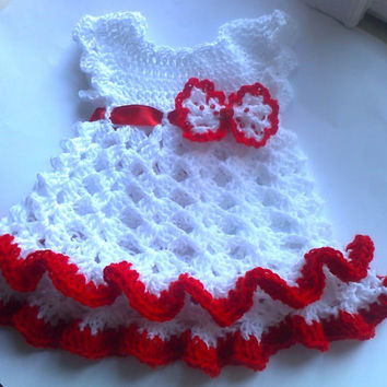Crochet PATTERN for baby dress baby crochet dress pattern,  4 SIZES Handmade Baby Dress Pattern baby crochet clothes newborn clothes