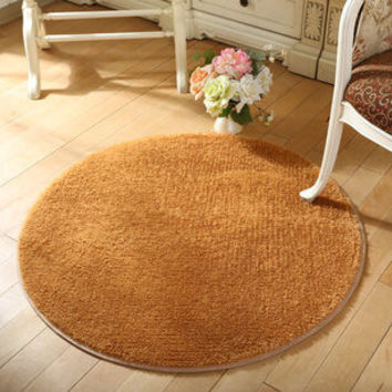 High Quality Floor Mats Modern Shaggy Round Rugs and Carpets for Living Room Bedroom Carpet  Rug for Home Yoga Mat