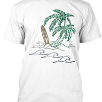 Drifting Palms Men's Surf Shirt