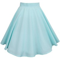 Pastel Mint Swing Skirt | Style Icon`s Closet