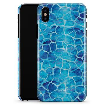 Blue Watercolor Giraffe Pattern - iPhone X Clipit Case