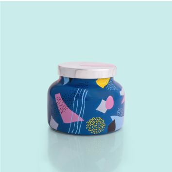 Blue Print Ceramic Jar- Volcano
