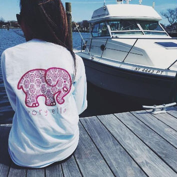 Elephant fashion print shirt