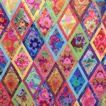 "BORDERED DIAMOND Quilt Kit  56""x80""  - Kaffe Fassett  and Philip Jacobs fabrics"