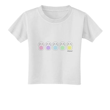 Cute Pastel Bunnies Toddler T-Shirt by TooLoud