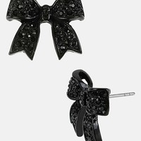 Betsey Johnson 'Iconic Jet Setter' Bow Stud Earrings | Nordstrom
