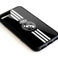 Real Madrid FC Three Stripe iPhone Samsung 6s 7 8 X S7 S8 Plus Edge Note Case