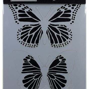 "Darkroom Door Stencil 9""X12""-Butterflies"
