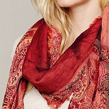 Free People  Trippy Paisley Scarf at Free People Clothing Boutique