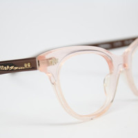 pink cat eye glasses vintage cateye frames NOS