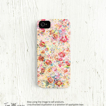 Flower iPhone 5 case, flower iPhone 5 case, floral iphone 4 case, floral iphone 5 case, iPhone 4s case, watercolor, shabby chic (c51)