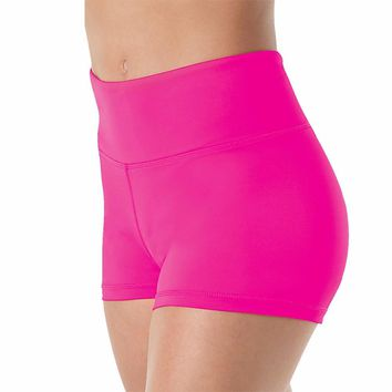 6b3e823965ec7 Women High Waisted Lycra Spandex Dance Shorts Girls Workout Dancing Shorts  for Stage Performance Shorts