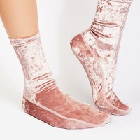 Free People Go Go Velvet Socks
