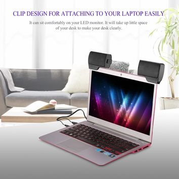 Mini Portable Clip-On Speakers for PC Desktop Tablet