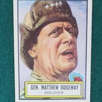 1952 Topps, Look 'N See Card, #35 General Matthew Ridgeway, Military Leaders Collectors Card, Non-Sports Trading Card