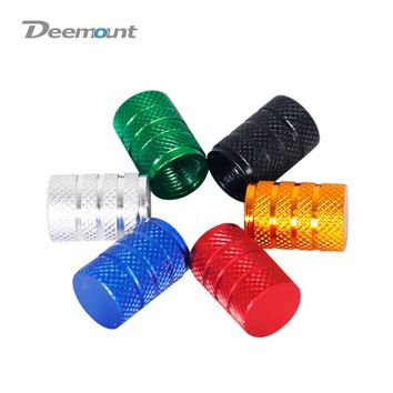 Deemount 4PCS/Lot Cycle Valve Nut Cap Schrader A/V Nozzle threading Valve Lid Dust Mud Cover Light Weight Anodized Multi Colors