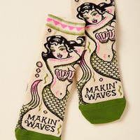 Mermaid Quite an Impression Socks