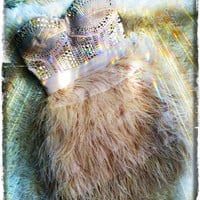 Bebe's Gold Studded Feather Rocker Chic Dress Bebe small by Amber Thwaites