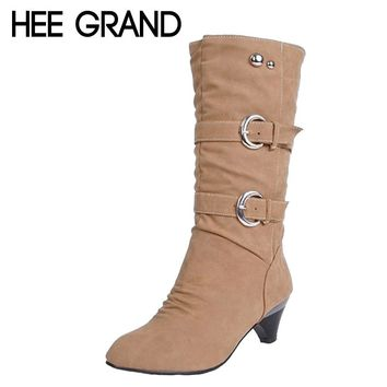 Low High Heels Women Boots