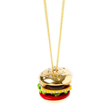 Katy Perry Cheeseburger Pendant Necklace