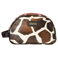 Kenneth Cole Reaction Womens Giraffe Print Double Zip Cosmetic Bags