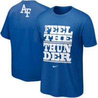 Nike Air Force Falcons Feel The Thunder My School T-Shirt - Royal Blue
