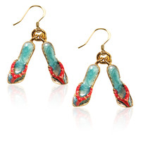 Designer Flip Flops Charm Earrings
