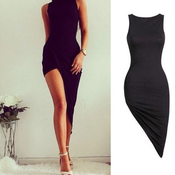 Sexy Women Sleeveless Bandage Bodycon Evening Party Club Long Maxi Dress = 1932132164