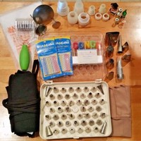 Lot of Cake Decorating Supplies Wilton Ateco TIPS COUPLERS BAGS PASTRY TOOLS