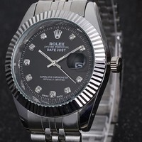 Rolex men and women fashion tide brand fashion watch F-PS-XSDZBSH Black dial