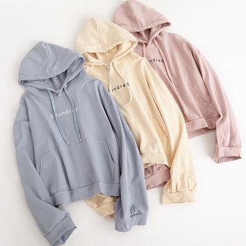 bts harajuku sweatshirt women autumn 2018 korean cute winter coat oversized hoodie women fashion retro pocket pink hoodies women