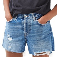 Topshop Ashley Ripped Boyfriend Shorts | Nordstrom