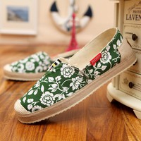 Flats Canvas Casual shoes Spring Summer Loafers  Ladies slip on Shoes