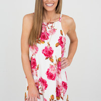 Garden of Roses Dress - Off White
