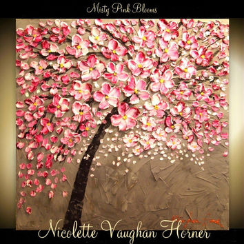 Made2order ORIGINAL HUGE Landscape Abstract  Pink Cherry by artmod