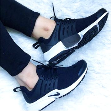 Nike Air Presto Woman Men Running Sneakers Sport Shoes black