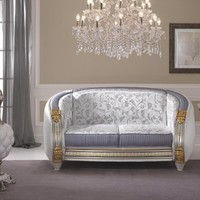 Art Nouveau 2 seater upholstered sofa Liberty Collection by Arredoclassic