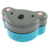 Kotobuki 280-188 2-Tier Bento Food-Storage Box, Gray Koala Bear