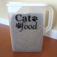 Cat Food Decal / Pet Food Decal / Dog Food Decal